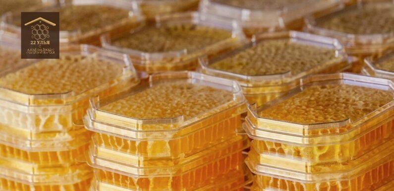 Мед в сотах. Изготовление мини-рамок для секционного меда.