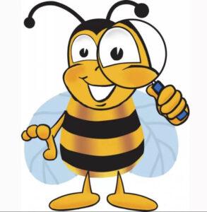 пчела улыбается