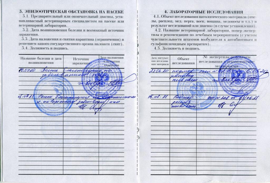 Паспорт пасеки 2021 -4